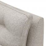 Pasadena 2 Seater High Back Sofa in Denzel Pebble with Blockbuster Honey Scatters - Thumbnail 9