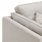 Pasadena 2 Seater High Back Sofa in Denzel Pebble with Blockbuster Honey Scatters - Thumbnail 8