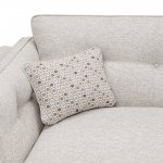 Pasadena 2 Seater High Back Sofa in Denzel Pebble with Blockbuster Honey Scatters - Thumbnail 5