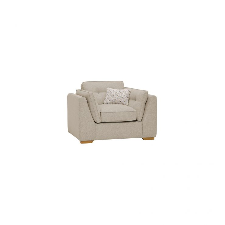 Pasadena Armchair in Denzel Natural with Etch Beige Scatters