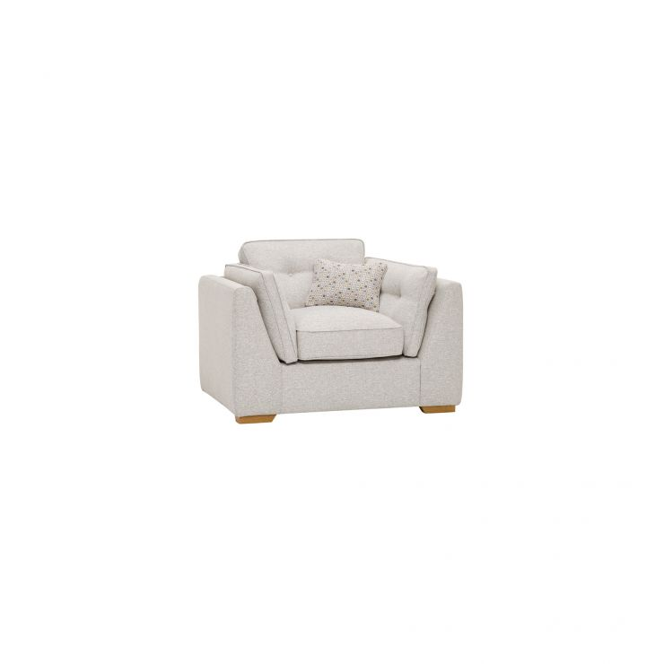 Pasadena Armchair in Denzel Pebble with Etch Natural Scatters