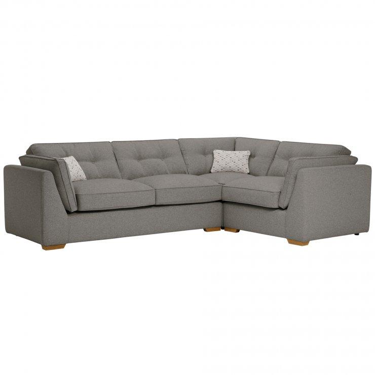 Pasadena Left Hand High Back Corner Sofa in Denzel Graphite with Blockbuster Slate Scatters - Image 8