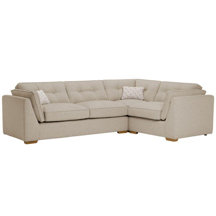 Pasadena Left Hand High Back Corner Sofa in Denzel Natural with Blockbuster Honey Scatters - Image 7