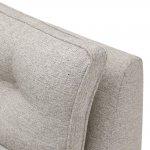 Pasadena Left Hand High Back Corner Sofa in Denzel Pebble with Blockbuster Honey Scatters - Thumbnail 6
