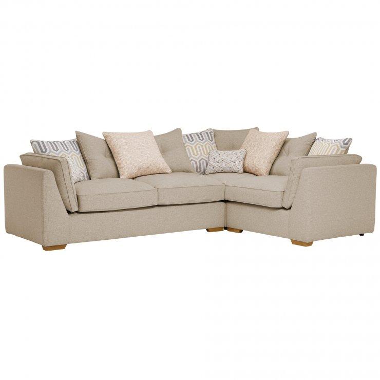 Pasadena Left Hand Pillow Back Corner Sofa in Denzel Natural with Blockbuster Honey Scatters - Image 4