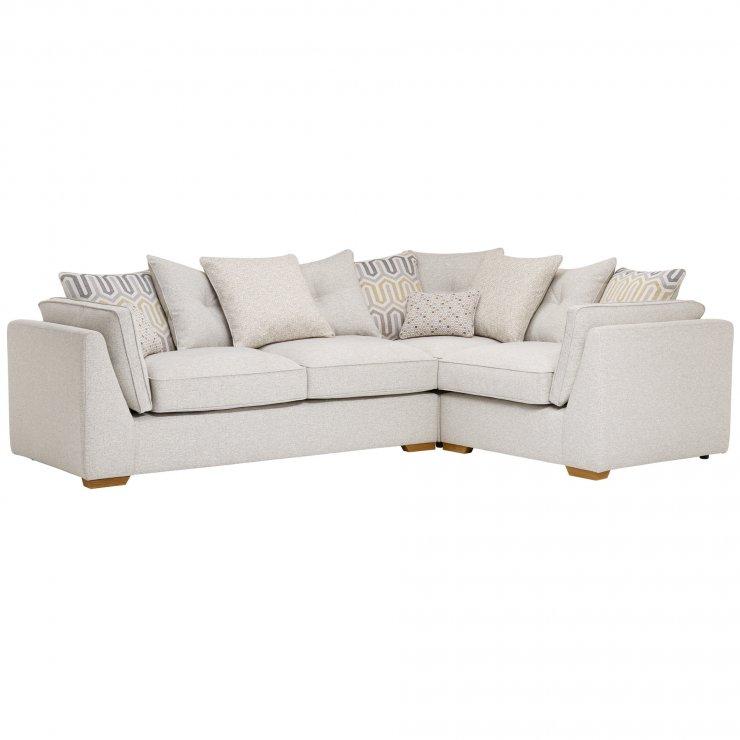 Pasadena Left Hand Pillow Back Corner Sofa in Denzel Pebble with Blockbuster Honey Scatters - Image 4