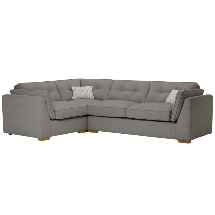 Pasadena Right Hand High Back Corner Sofa in Denzel Graphite with Blockbuster Slate Scatters