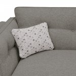 Pasadena Right Hand High Back Corner Sofa in Denzel Graphite with Blockbuster Slate Scatters - Thumbnail 2