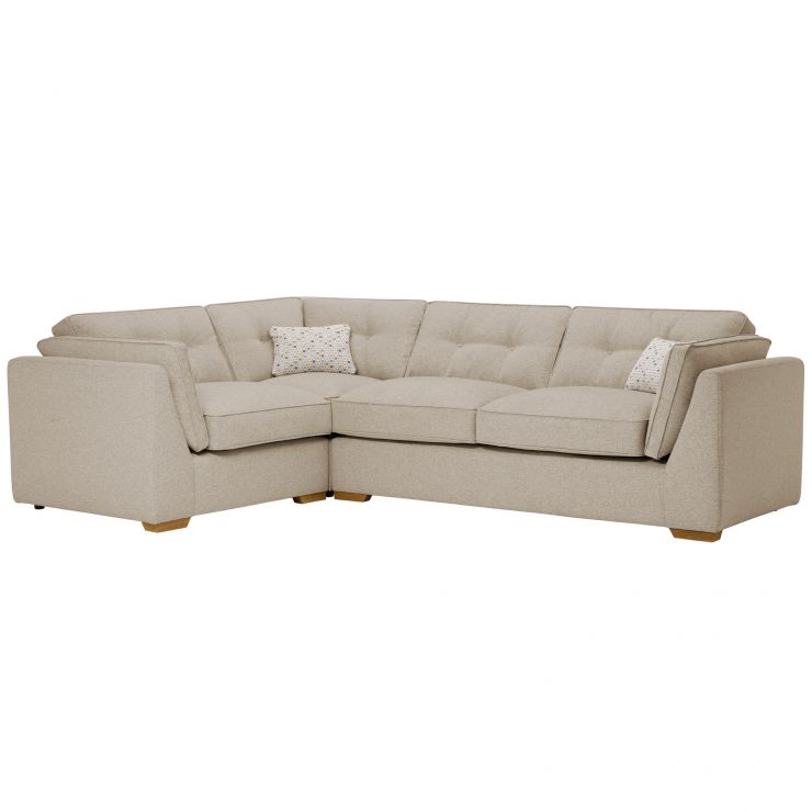 Pasadena Right Hand High Back Corner Sofa in Denzel Natural with Blockbuster Honey Scatters