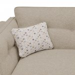 Pasadena Right Hand High Back Corner Sofa in Denzel Natural with Blockbuster Honey Scatters - Thumbnail 2