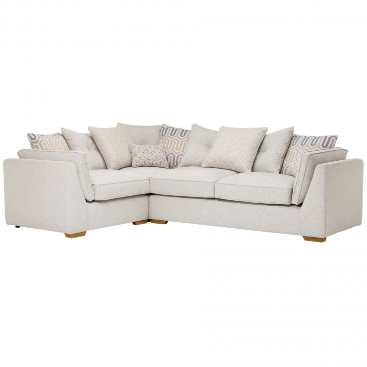 Pasadena Right Hand Pillow Back Corner Sofa in Denzel Pebble with Blockbuster Honey Scatters - Image 4