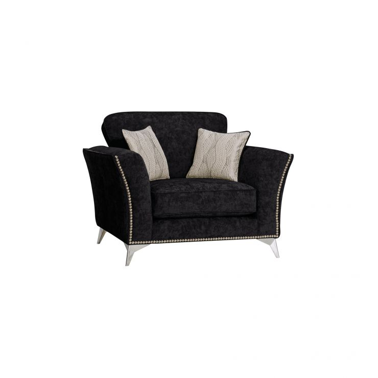 Quartz Black Loveseat in Fabric