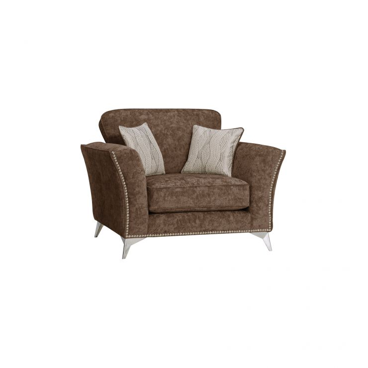 Quartz Chocolate Loveseat in Fabric