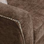Quartz High Back Chocolate 2 Seater Sofa in Fabric - Thumbnail 6