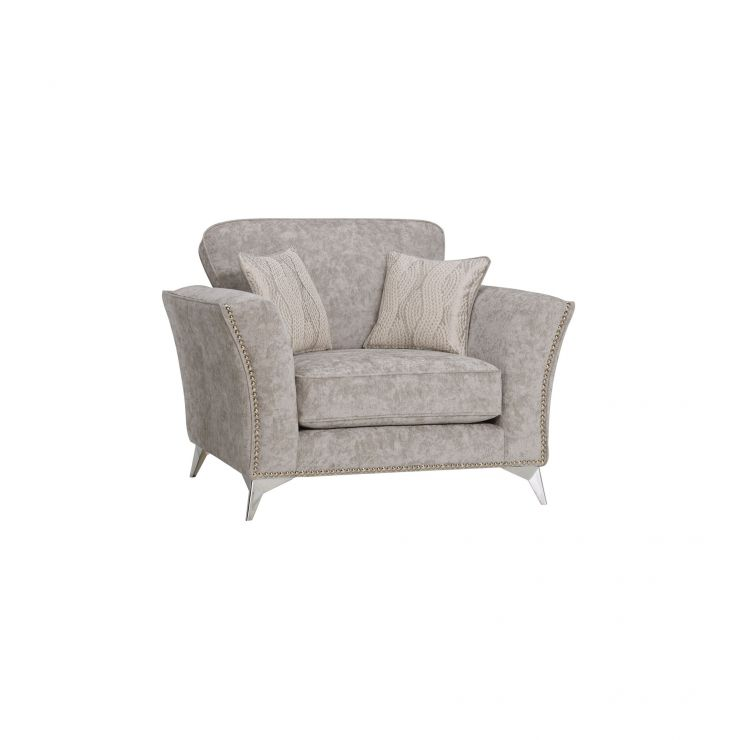 Quartz Nickel Loveseat in Fabric - Image 1
