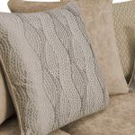 Quartz Pillow Back Beige 3 Seater Sofa in Fabric - Thumbnail 9