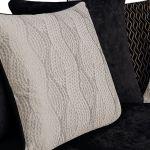 Quartz Pillow Back Black 3 Seater Sofa in Fabric - Thumbnail 9