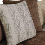 Quartz Pillow Back Chocolate 3 Seater Sofa in Fabric - Thumbnail 9
