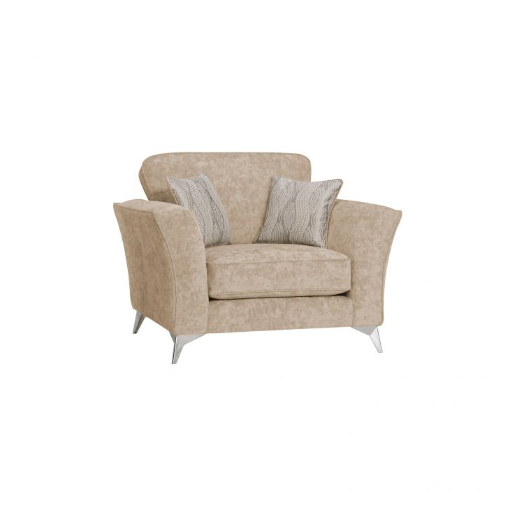 Quartz Traditional Beige Loveseat in Fabric