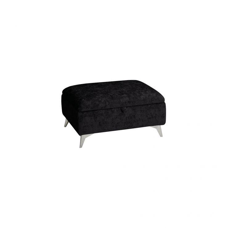 Quartz Traditional Black Storage Footstool