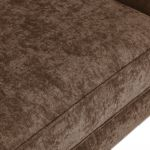 Quartz Traditional High Back Chocolate 3 Seater Sofa in Fabric - Thumbnail 8