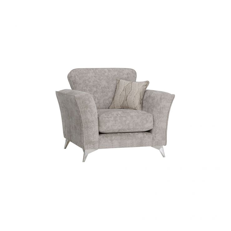 Quartz Traditional Nickel Armchair in Fabric