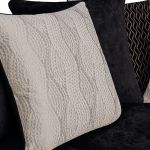 Quartz Traditional Pillow Back Black 3 Seater Sofa in Fabric - Thumbnail 9