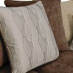 Quartz Traditional Pillow Back Chocolate 4 Seater Sofa in Fabric - Thumbnail 9