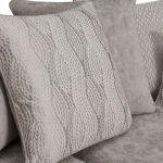 Quartz Traditional Pillow Back Nickel 3 Seater Sofa in Fabric - Thumbnail 9