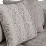 Quartz Traditional Pillow Back Nickel 4 Seater Sofa in Fabric - Thumbnail 9