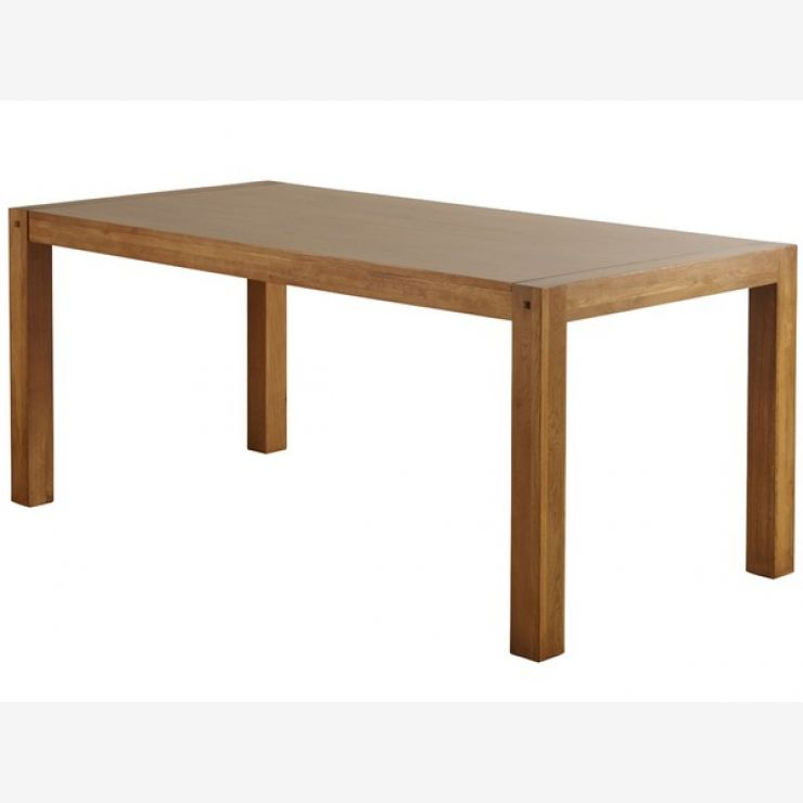 Quercus Rustic Solid Oak 6ft x 3ft Dining Table - Image 3
