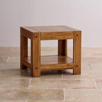 Quercus Rustic Solid Oak Bedside Table