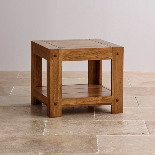 Quercus Rustic Solid Oak Bedside Table