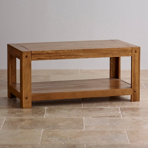 Quercus Rustic Solid Oak Coffee Table