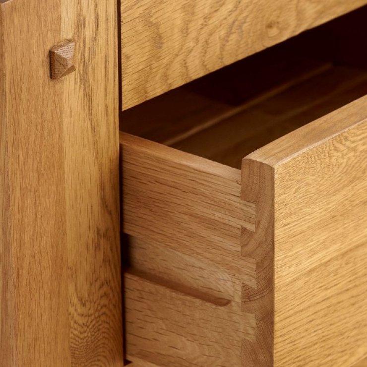 Quercus Rustic Solid Oak Console Table