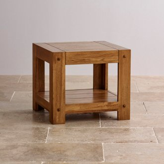 Quercus Rustic Solid Oak Side Table