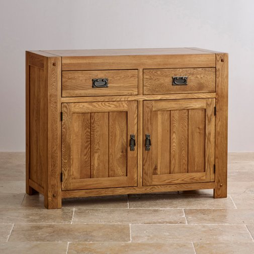 Quercus Rustic Solid Oak Small Sideboard