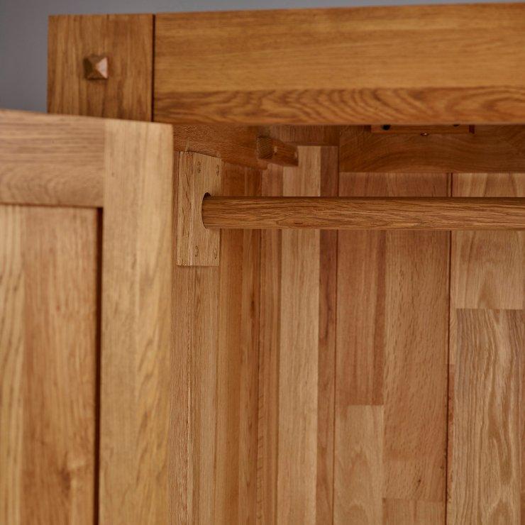 Quercus Rustic Solid Oak Triple Wardrobe