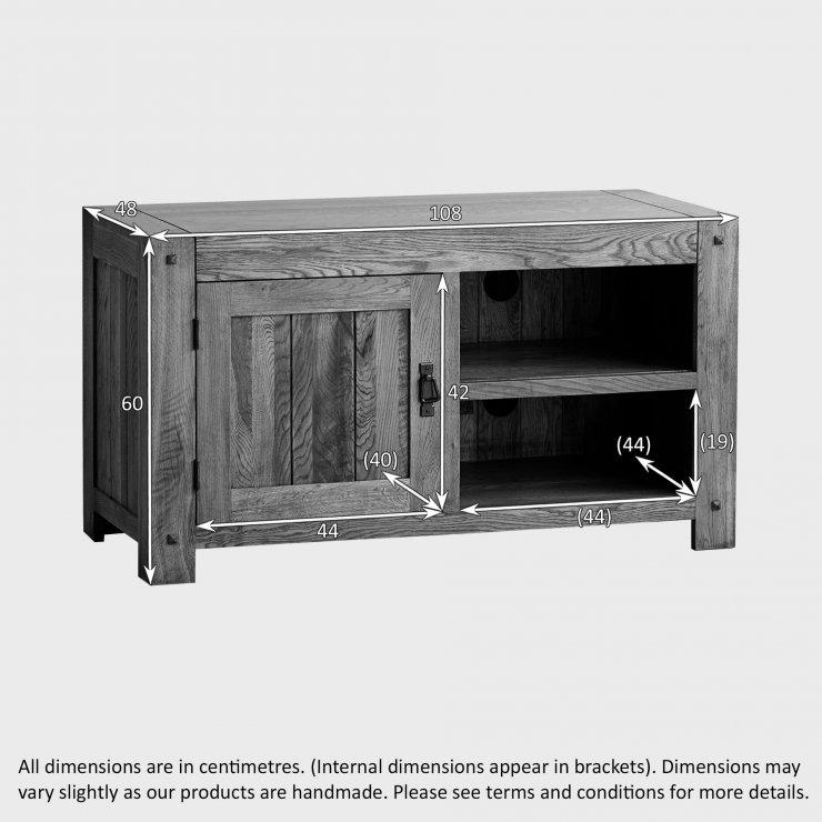 Quercus Rustic Solid Oak Small TV Cabinet