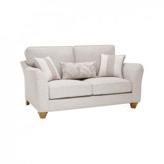 Regency 2 Seater High Back Sofa in Lyon Silver
