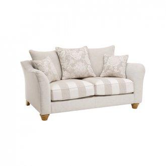Regency 2 Seater Pillow Back Sofa in Lyon Silver