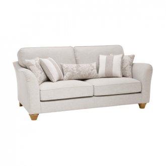 Regency 3 Seater High Back Sofa in Lyon Silver