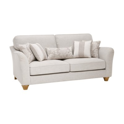 Regency 3 Seater High Back Sofa in Lyon Silver