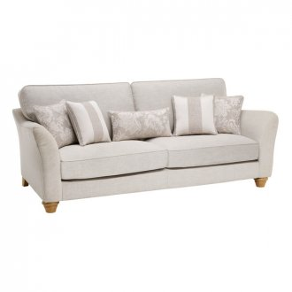 Regency 4 Seater High Back Sofa in Lyon Silver