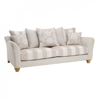 Regency 4 Seater Pillow Back Sofa in Lyon Silver