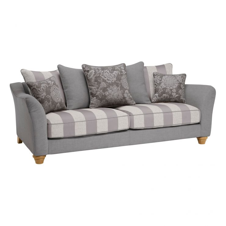 Regency 4 Seater Pillow Back Sofa in Lyon Steel