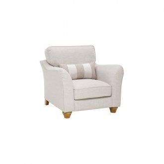 Regency Armchair in Lyon Silver
