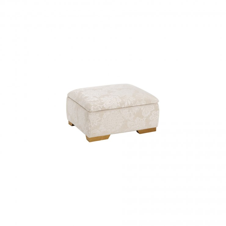 Regency Storage Footstool in Floral Natural - Image 2