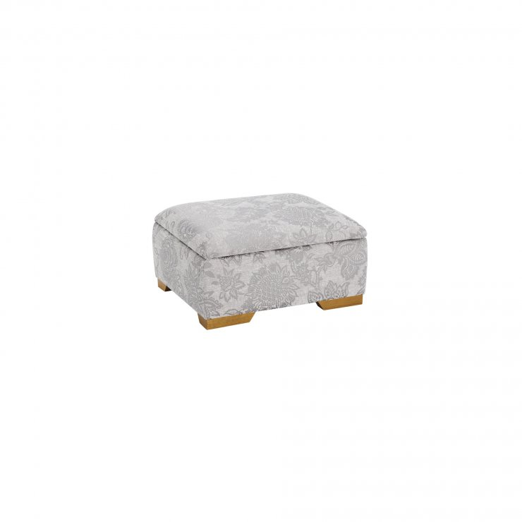 Regency Storage Footstool in Floral Steel - Image 2