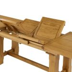 "Rhodes Natural Solid Oak 9ft 2"" Extending Dining Table - Thumbnail 3"